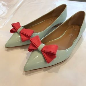 Shoes of Prey Turquoise Leather Flats 7 1/2M